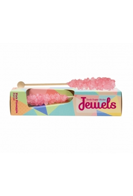 Jewels Rock Sugar Sticks - 2 Sticks in a box - Pink Pineapple